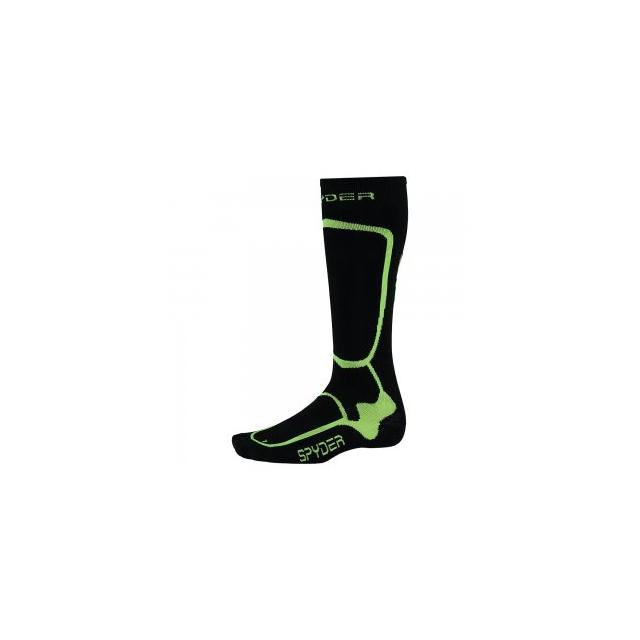 Spyder - Pro Liner Ski Sock Men's, Black/Bryte Yellow, L
