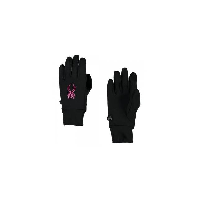 Spyder - Stretch Fleece Conduct Glove Women's, Black/Silver, L