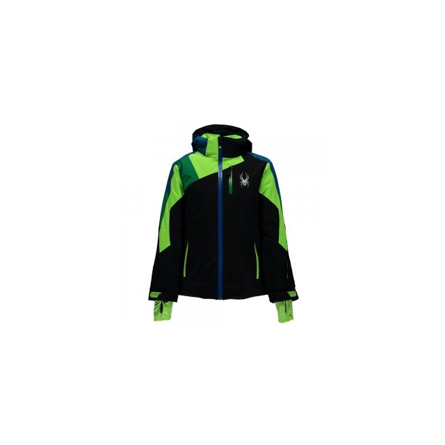 Spyder - Avenger Insulated Ski Jacket Boys', Black/Formula/Rage, 10
