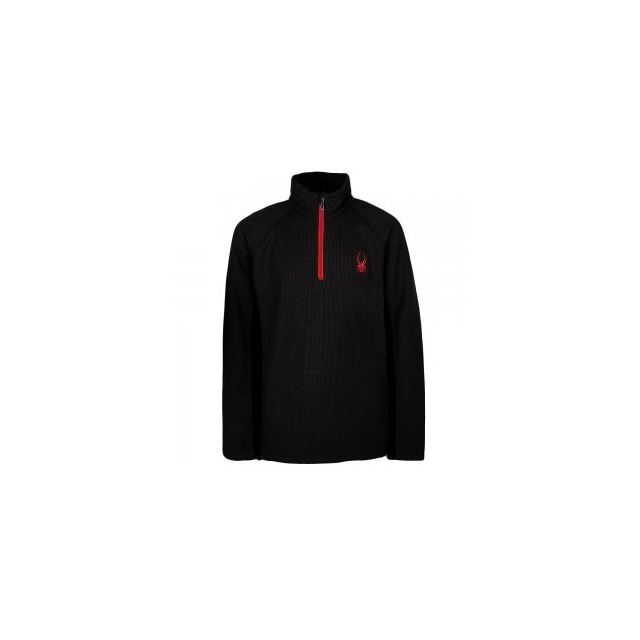 Spyder - Outbound Mid Weight Core Stryke Sweater Boys', Black/Red, L