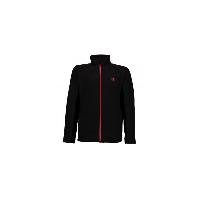 Spyder - Mini Constant Mid-Weight Core Sweater Little Boys', Black/Red, XS