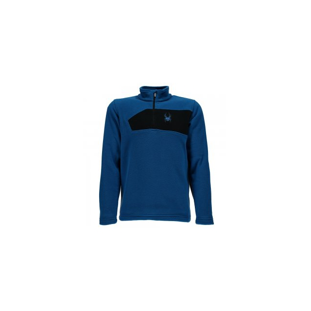 Spyder - Mini Speed Fleece Top Little Boys', Concept Blue/Black, XS