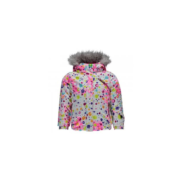 Spyder - Bitsy Lola Insulated Ski Jacket Little Girls', Freeze/Iris, 2