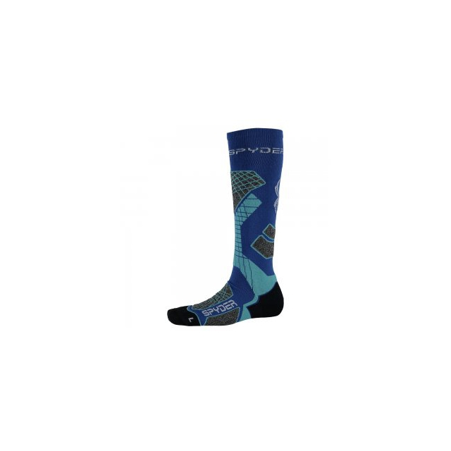 Spyder - Zenith Ski Sock Women's, Bling/Freeze/White, M