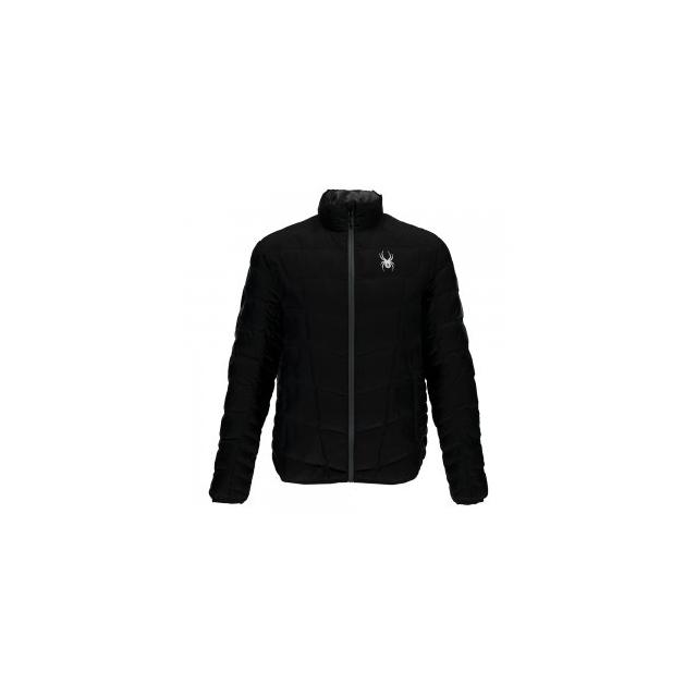 Spyder - Geared Synthetic Down Jacket Men's, Black/Black/Polar, L