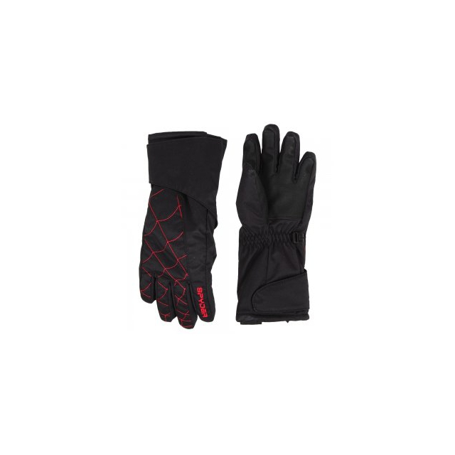 Spyder - Mini Overweb Glove Little Kids', Black/Red, L
