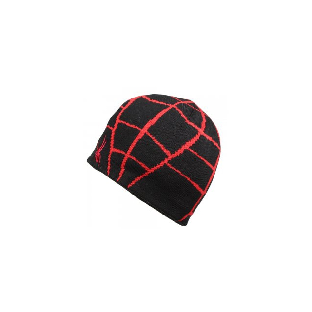 Spyder - Mini Web Hat Little Boys', Black/Red,