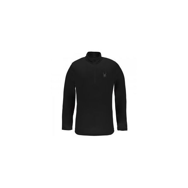 Spyder - Silver Dip Dry W.E.B. Turtleneck Mid-Layer Men's, Black/Black, L