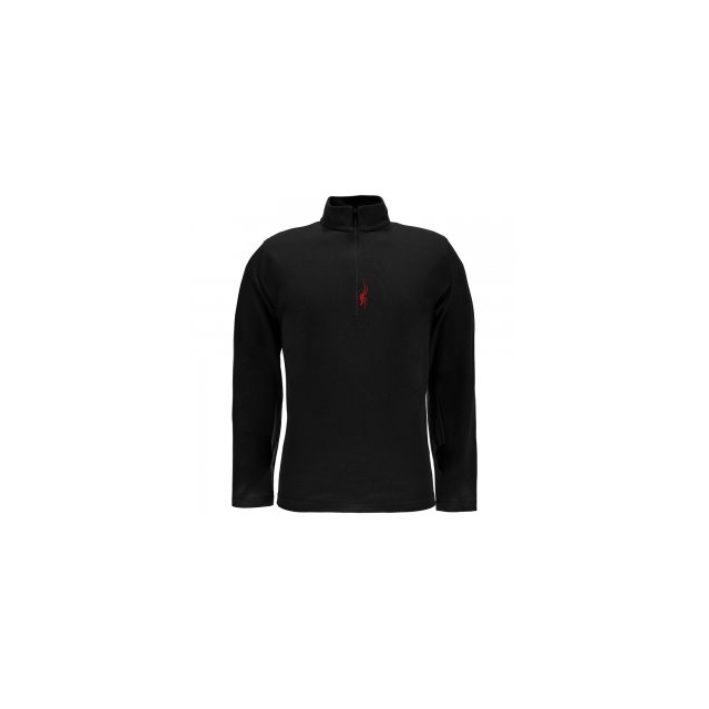 Spyder - Buckhorn Cotton/Poly Turtleneck Men's, Black/Red, L