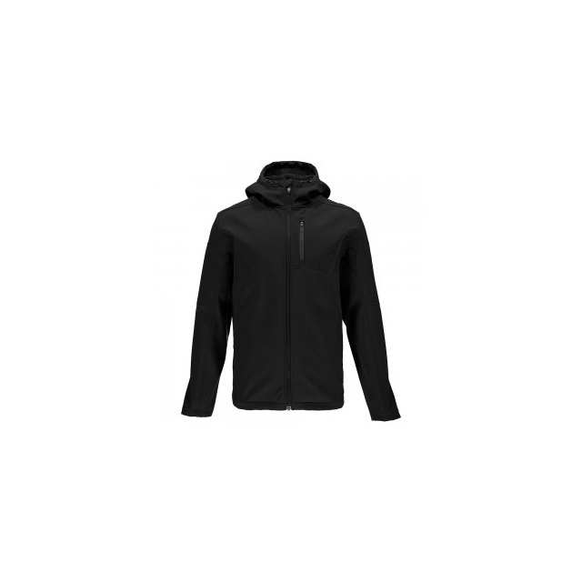 Spyder - Patsch Hoody Softshell Jacket Men's, Black/Polar, L