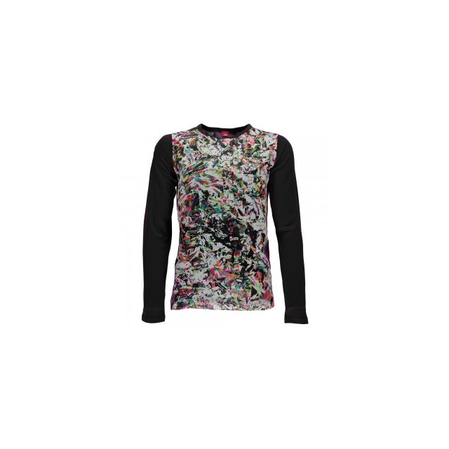 Spyder - Lively Long Sleeve Tech Tee Girls', Kaleidoscope/Black, L