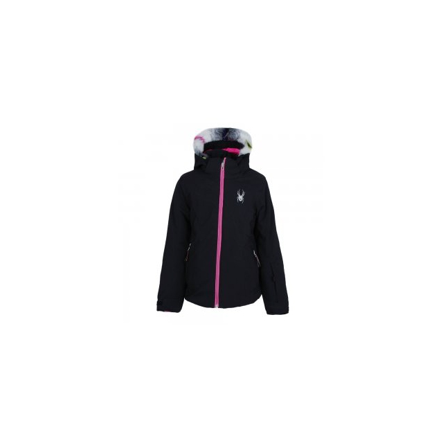 Spyder - Eve Insulated Ski Jacket Girls', Black/Bryte Bubblegum, 10