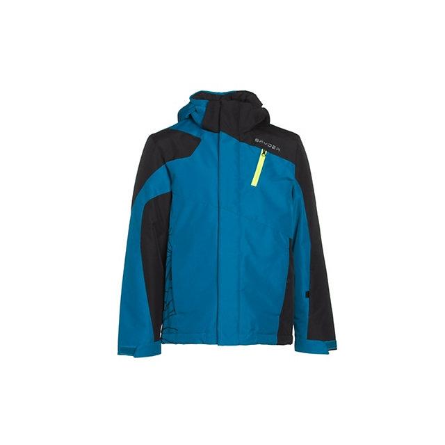 Spyder - Guard Ski Jacket Boys', Concept Blue/Black/Bryte Green, 10