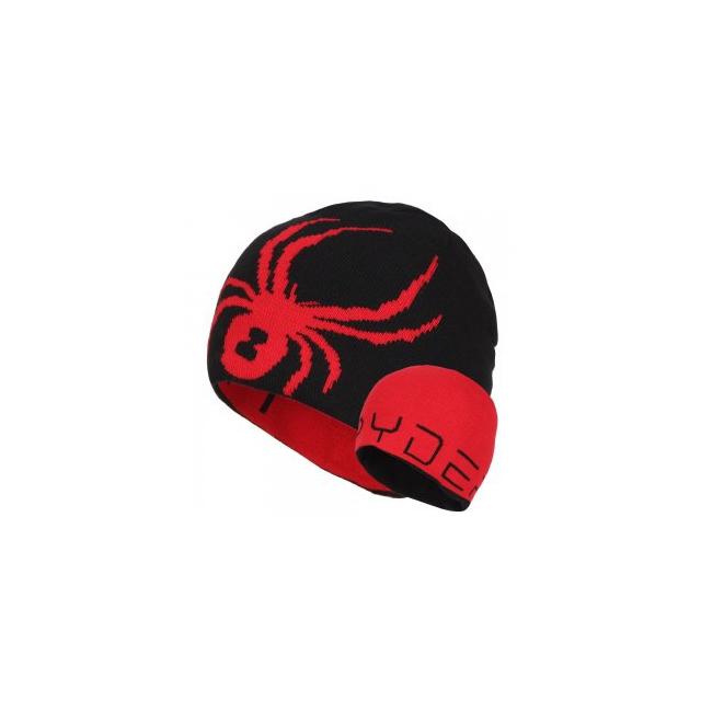 Spyder - Reversible Bug Hat Boys', Black/Red,