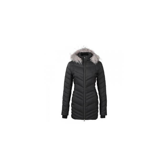 Spyder - Timeless Long Faux Fur Down Jacket Women's, Black, L