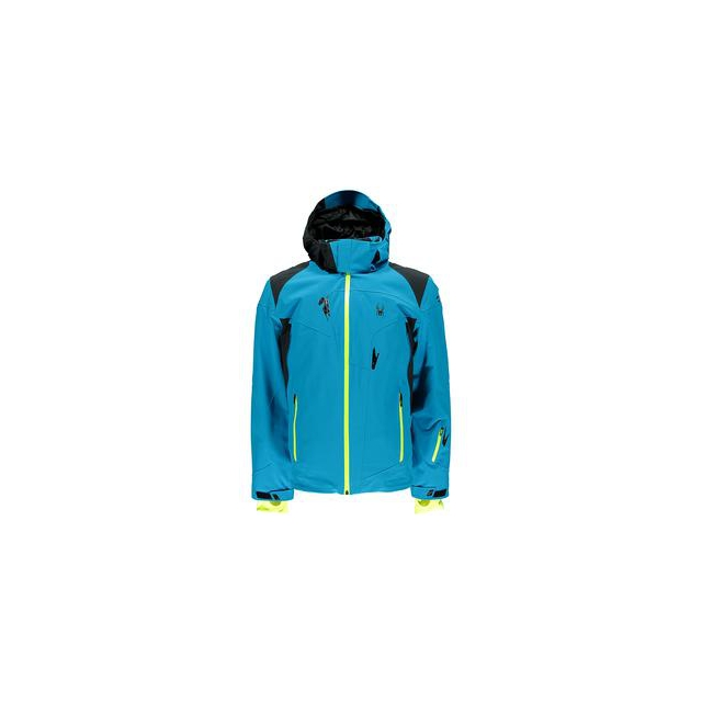 Spyder - Bromont Insulated Ski Jacket Men's, Black/Volcano/Bryte Orange, L
