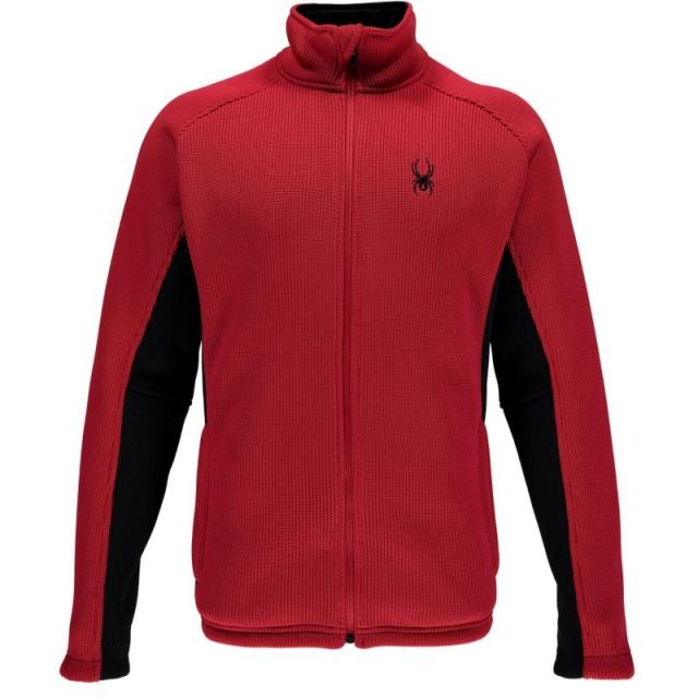 Spyder - Mens Foremost Full Zip Sweater Formula/Black XL
