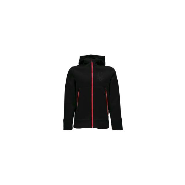 Spyder - Orbit Fleece Jacket - Boy's - Black/Red In Size