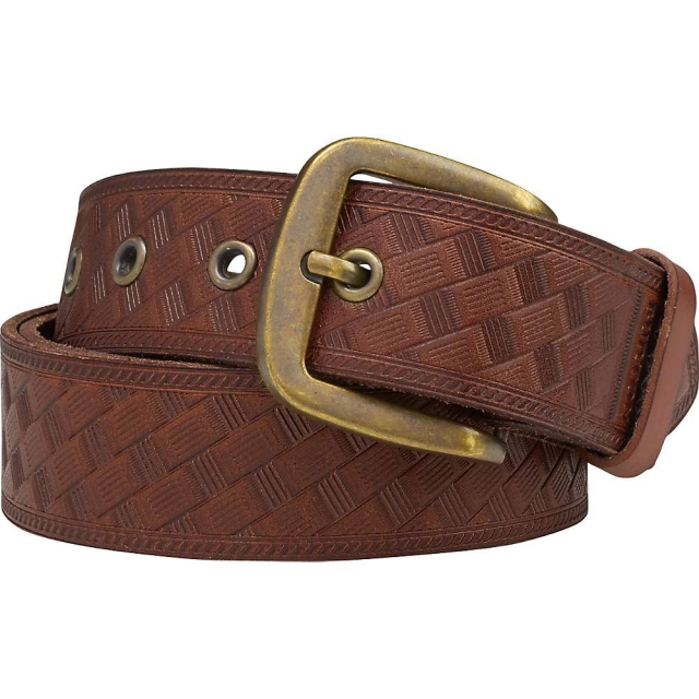 Burton - Embossed Leather Belt - Men's