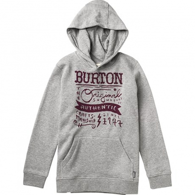 Burton - - Workwear Pullover Boys - Medium - Heather Grey