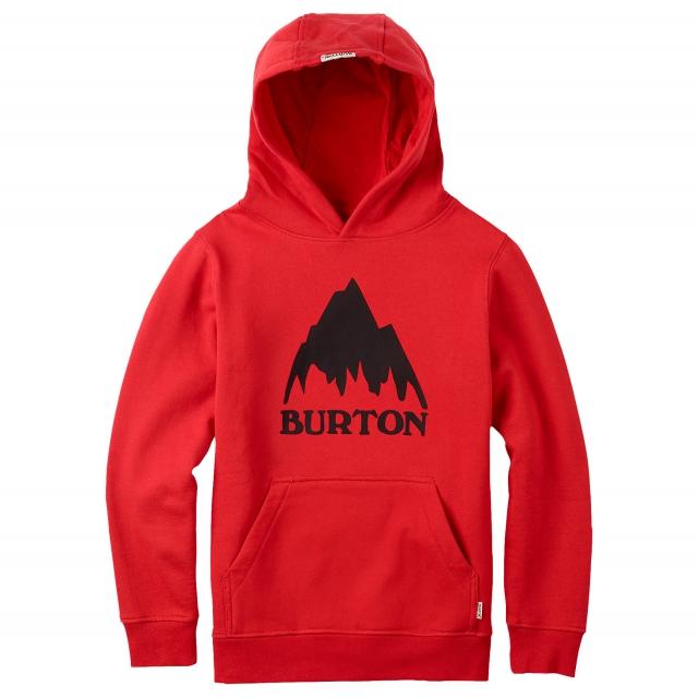 Burton - - Classic Mtn Pullover Boys - Medium - Fiery Red