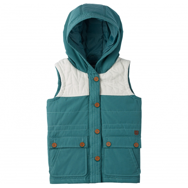 Burton - - Geneva Vest Girls  - Small - Sea Pine