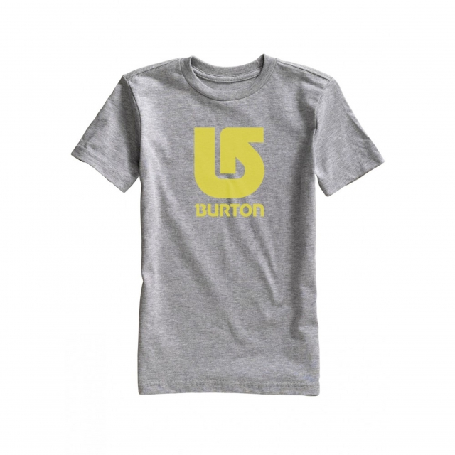 Burton - - Logo Vert SS Boys - Small - Grey Heather