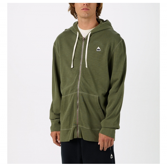 Burton - - Drake Full Zip M - large - Olive Night