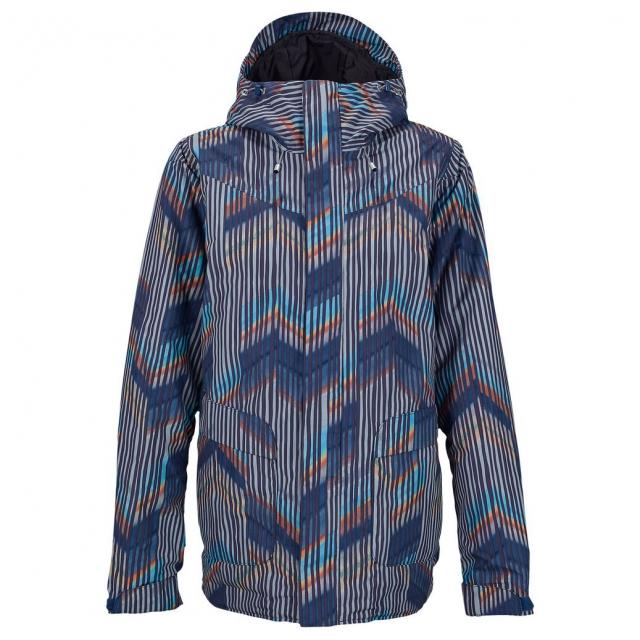 Burton - - Cadence Jacket W - large - Dusk Chevron