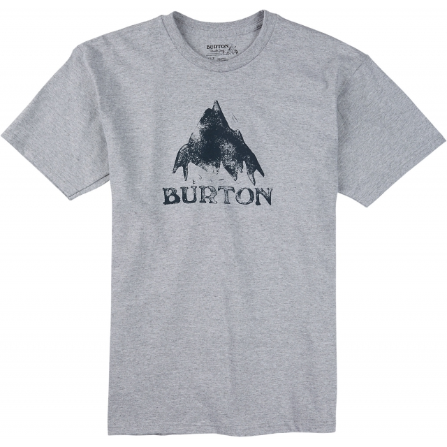 Burton - - Stamped Mountain SS T M - xx-large - Gray Heather