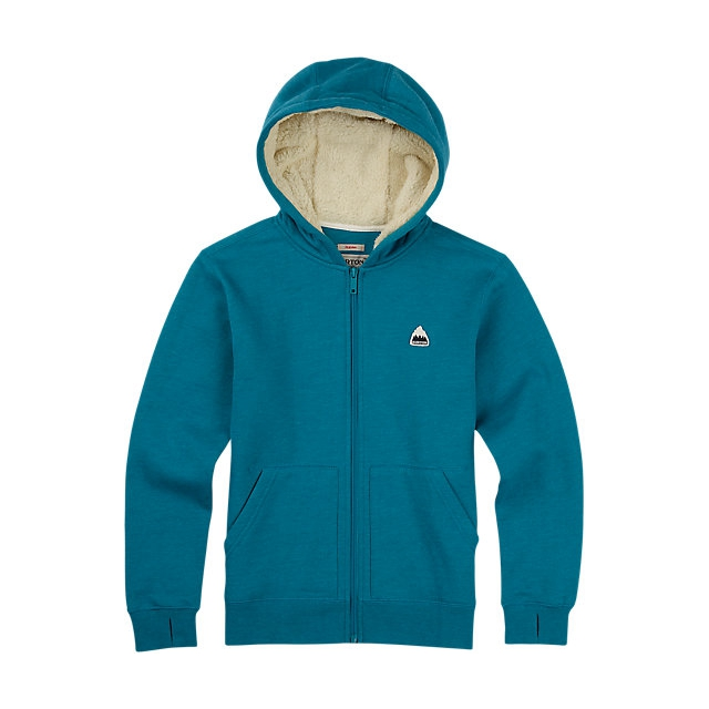 Burton - - Boys Roe Full Zip - large - Pagoda Blue Heather