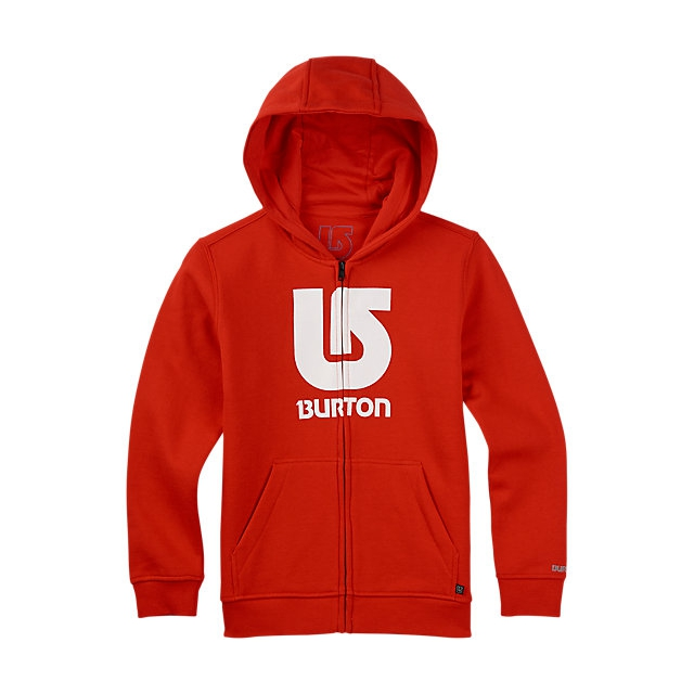 Burton - - Boys Logo Vertical FZ - large - Fiery Red