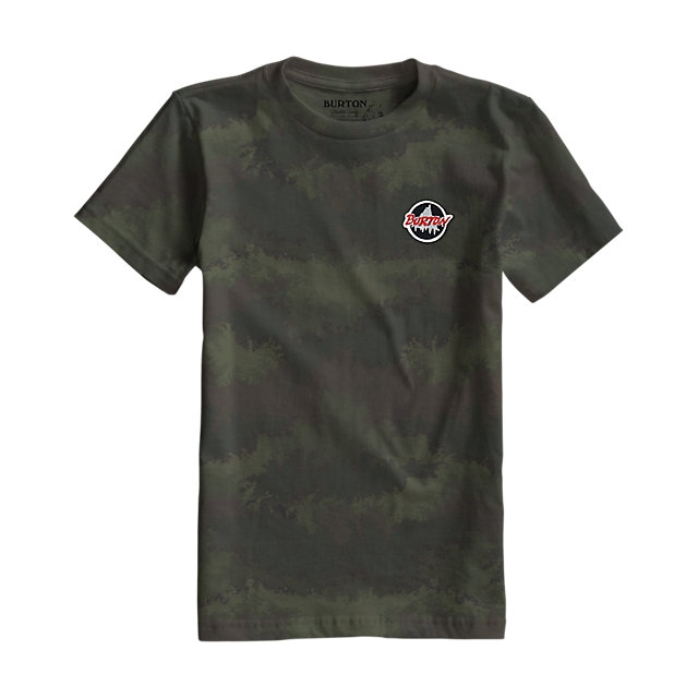 Burton - - Boys Scout SS Tee - small - Oil Camo