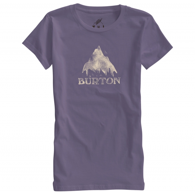 Burton - - STAMPED MOUNTAIN SS T W - x-small - Dusty Grape