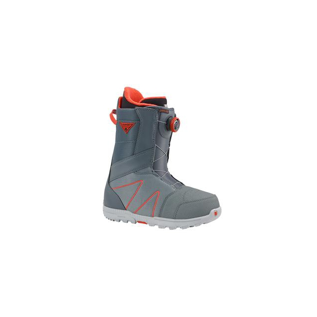 Burton - Highline Boa Snowboard Boots Men's, Gray/Red, 8.5