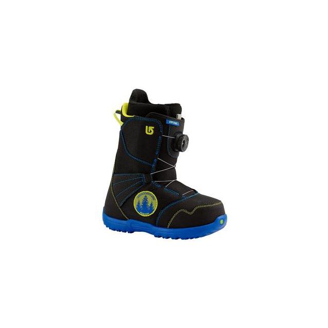 Burton - Zipline Boa Snowboard Boots Kids', Black/Blue, 4