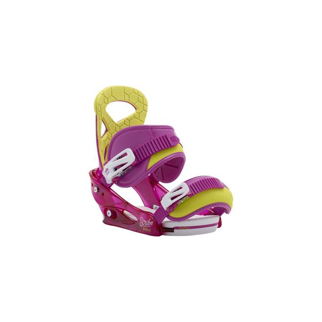 Burton - Scribe Smalls Snowboard Binding Girls', Razzle Dazzle Pink, S
