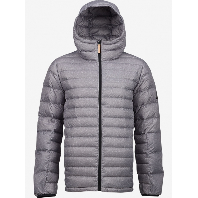 Burton - - Evergreen Hooded Down M - X-LARGE - Gray Heather