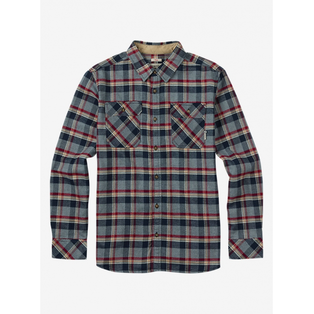 Burton - - Brighton Flannel M - X-LARGE - Dark Ash Yolo Plaid