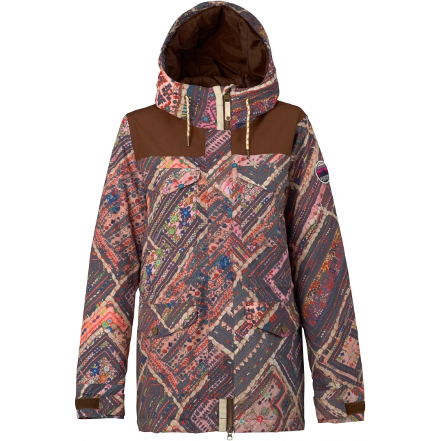 Burton - - Fremont Jacket W - X-SMALL - Wanderer Quilt Brown Leather