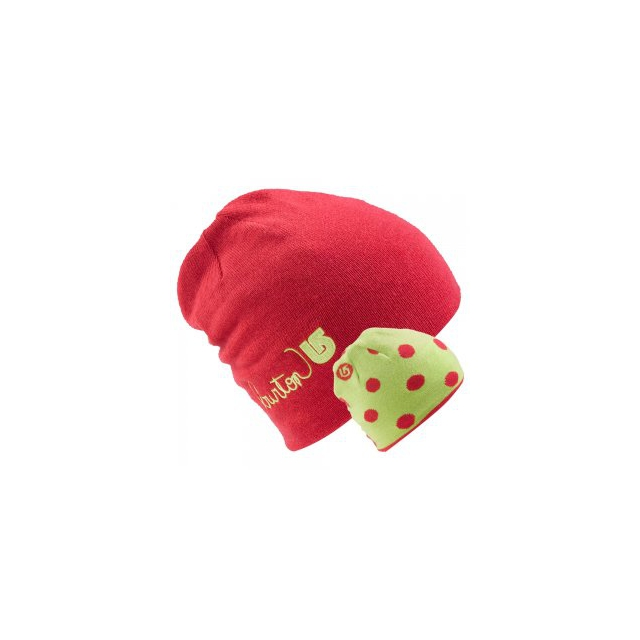 Burton - Belle Reversible Beanie Girls', Hot Streak/Limeade