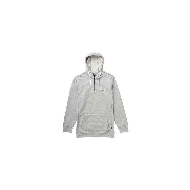 Burton - Roe 1/4-Zip Hoodie Men's, Heather Pewter, L