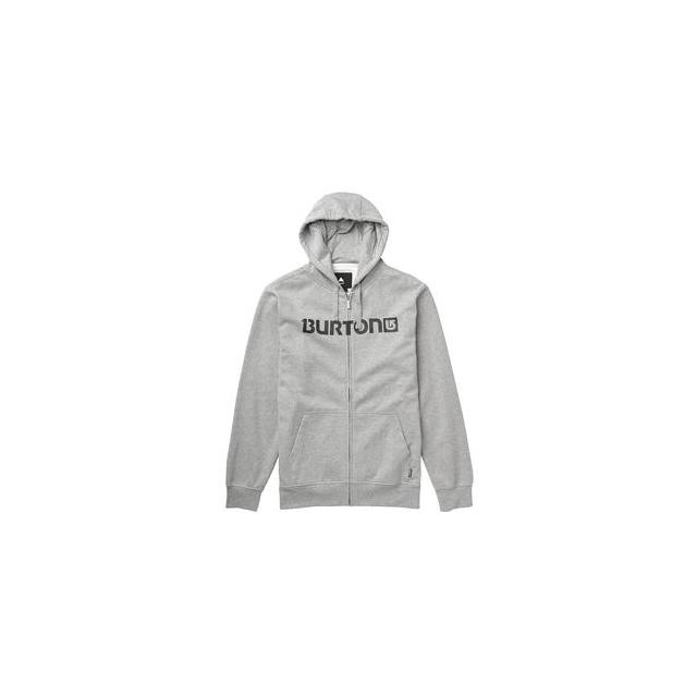 Burton - Logo Horizontal Full-Zip Hoodie Men's, Heather Grey, XL