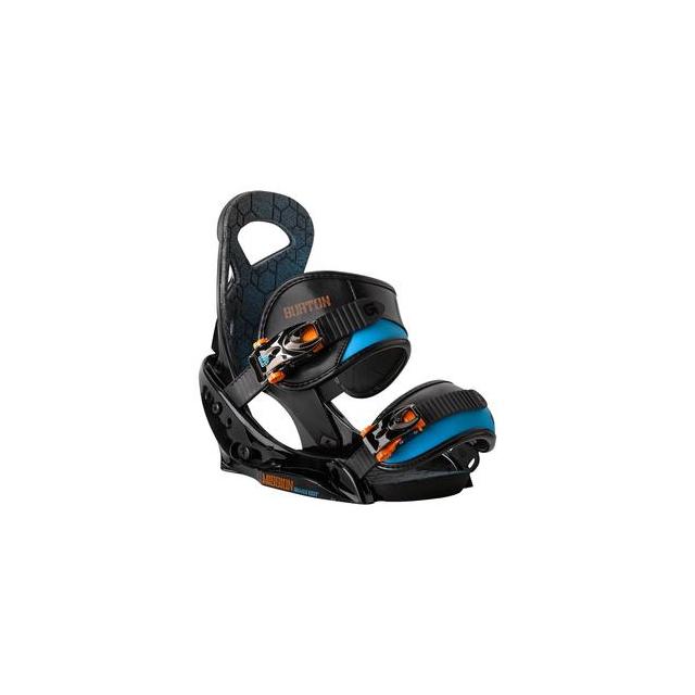 Burton - Mission EST Smalls Snowboard Binding Boys', Black/Orange, S