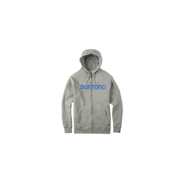 Burton - Logo Horizontal Full-Zip Hoodie Men's, Gray Heather, L