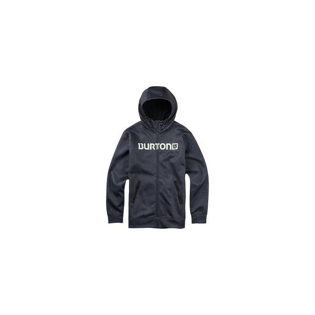 Burton - Bonded Full Zip Hoodie Sweatshirt Men's, True Black/Heather, XL