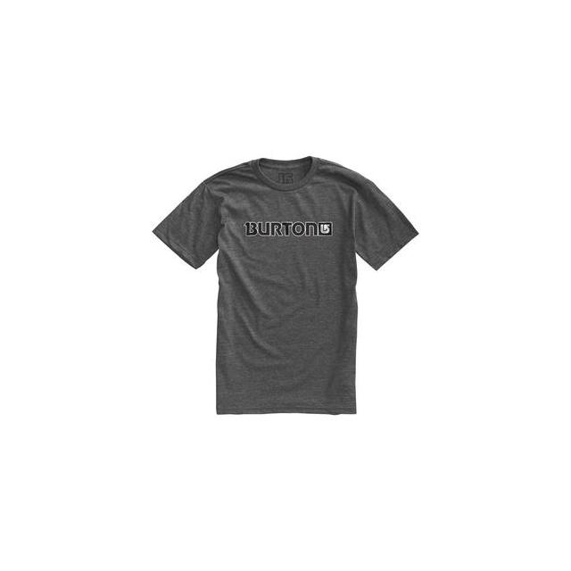 Burton - Logo Horizontal Short Sleeve T-Shirt Men's, Charcoal/Gray, L