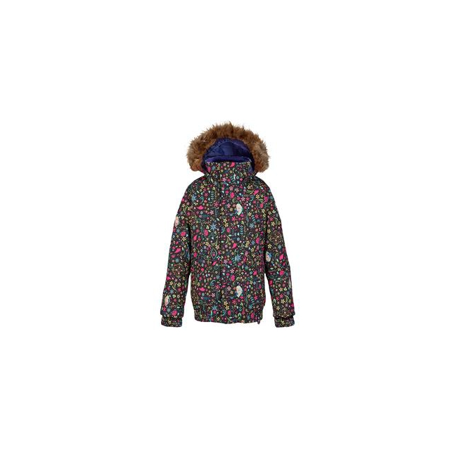 Burton - Twist Bomber Insulated Snowboard Jacket Girls', Elsa Anna Frozen Print, L