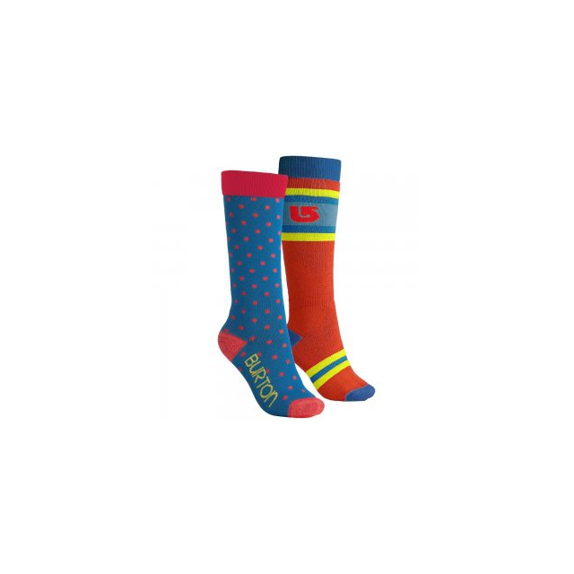 Burton - Weekend 2 Pack Snowboard Socks Women's, Tahoe Blue, M/L