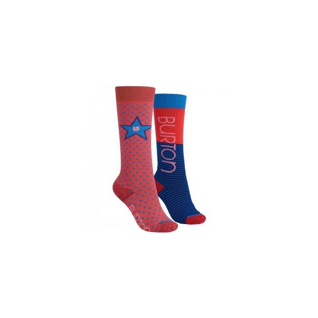 Burton - Weekend 2-Pack Snowboard Socks Kids', Tropic, M/L